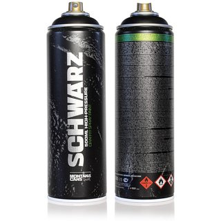Montana SCHWARZ 500ml - High Pressure Graffiti Can