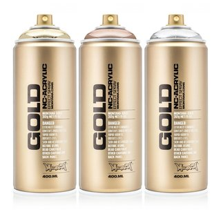 Montana GOLD 400ml Spraydose Chrome Effect Colors