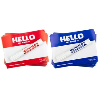 Montana Hello my name is Sticker Pack Red