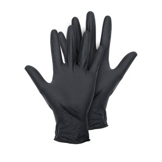 Montana Black Latex Gloves 100er Pkg. M